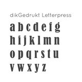 dikGedrukt | Letterpress collier_