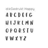 dikGedrukt | Happy incl. collier_