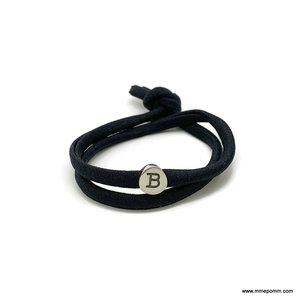 Armband Vonk zwart incl. 1 slider